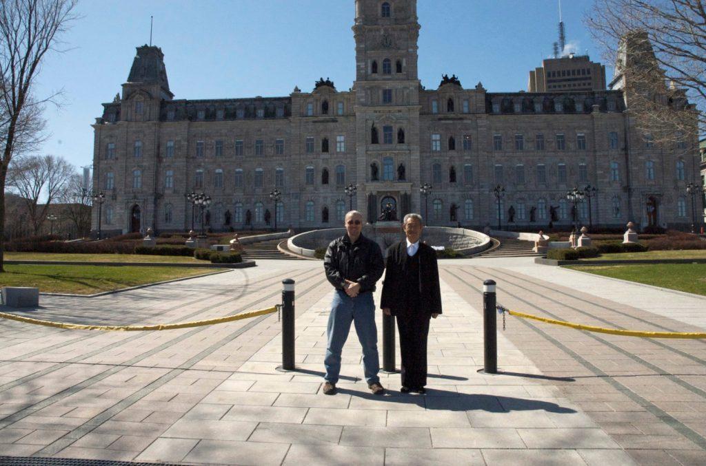Philippe Mun et Maître Guo Guizhi, Québec