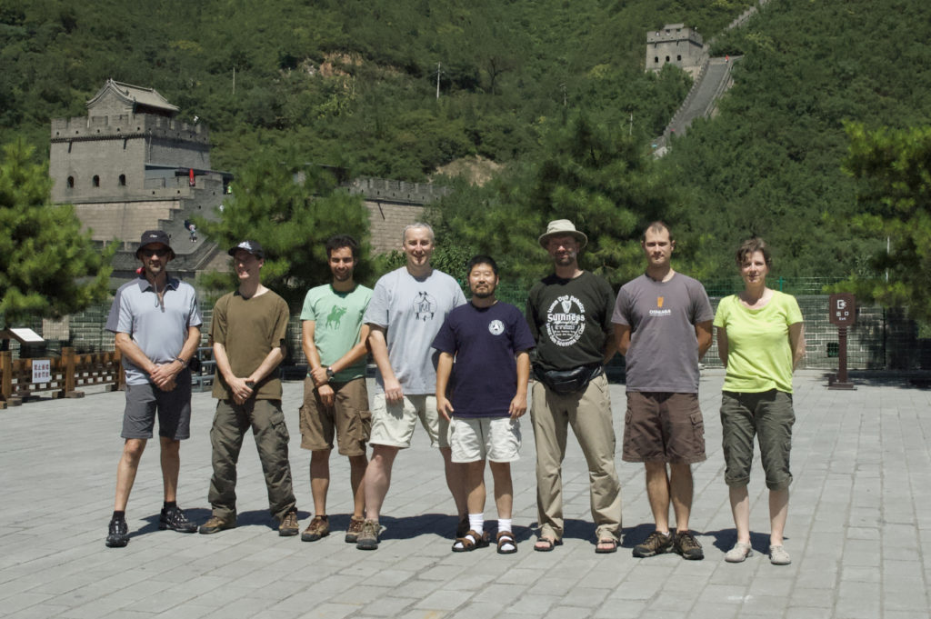 Groupe Munndialarts avec Me Chen Zhonghua à la grande muraille, Chine 2010