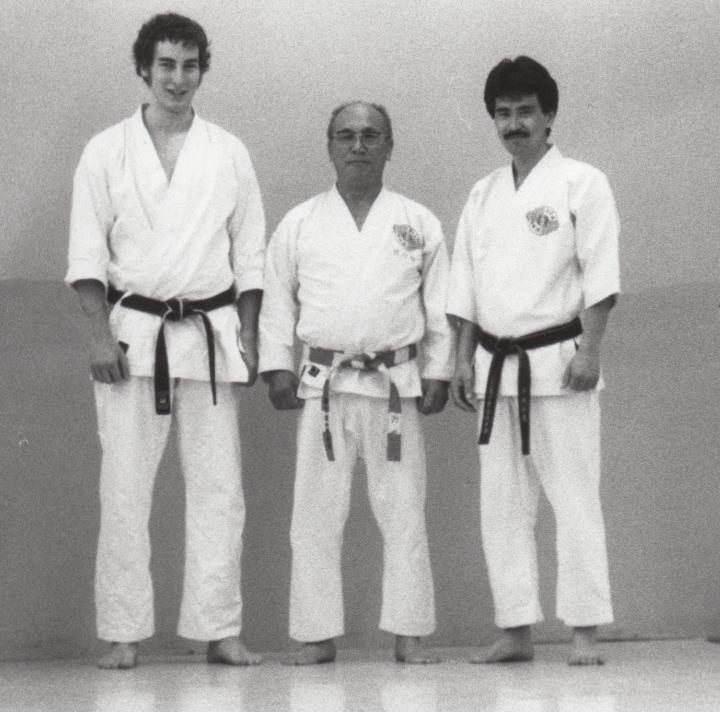 Philippe Munn avec les Maîtres Tashiro et Chitose