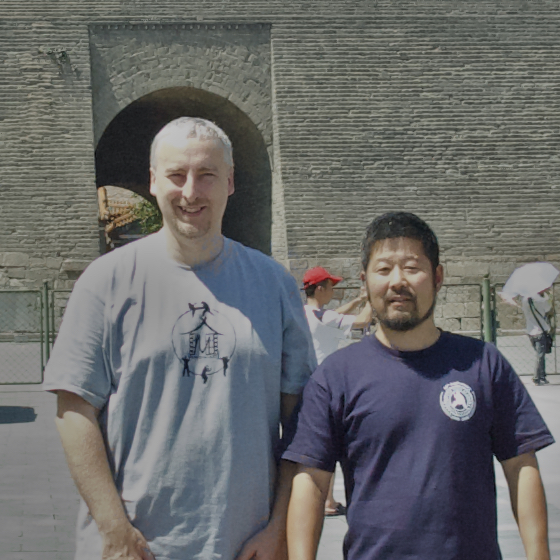 Philippe with Master Chen Zhonghua in China