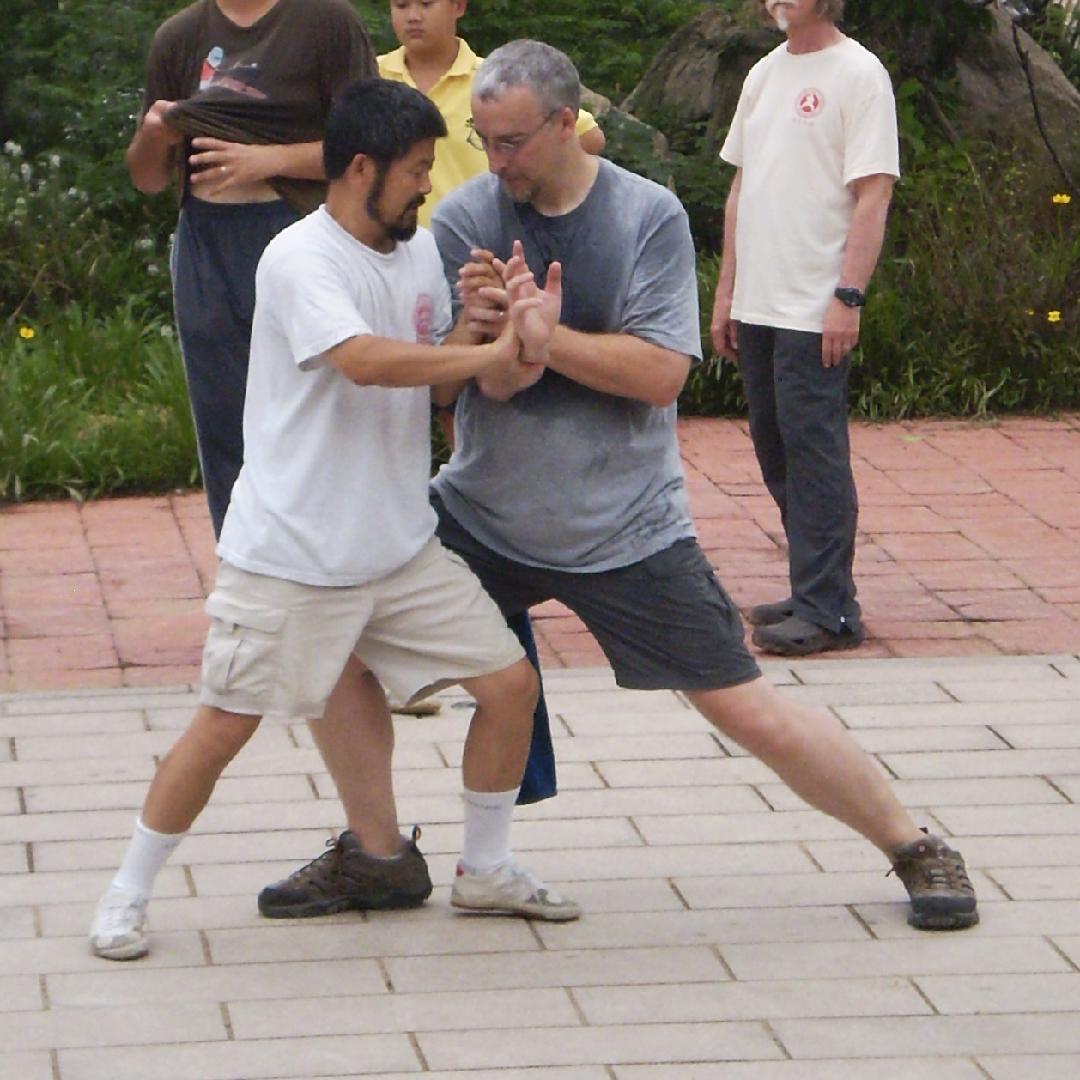 Tuishou with Master Chen Zhonghua in China