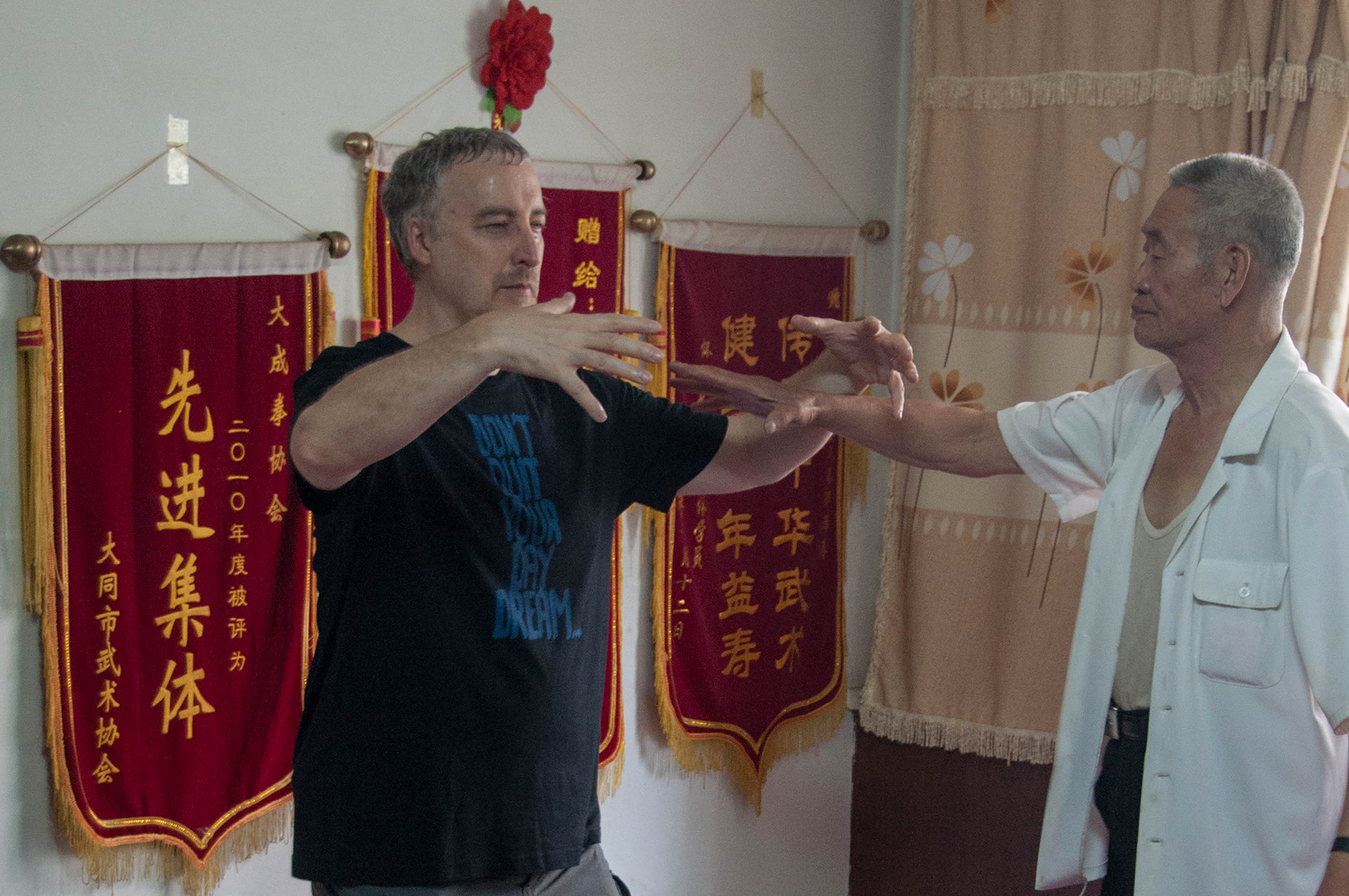 Philippe Munn Receiving correction from Master Guo Guizhi