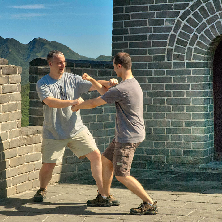 Dachengquan tuishou on the Great Wall of China
