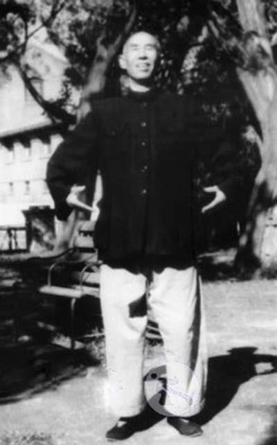 Master Wang Xiangzhai in zhanzhuang