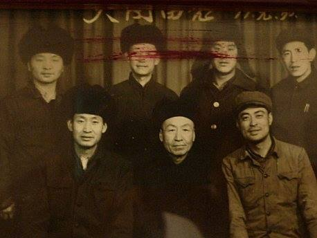 Master Guo Guizhi sitting next to master Yao Zhongxun (center)
