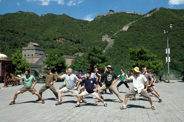 Munndialarts group with master Chen Zhonghua at the great wall, China