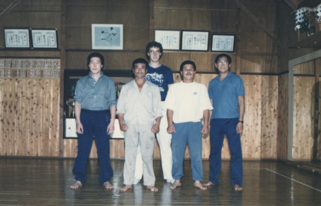 At the dojo of Master Yamagushi Japan