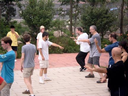 Training with Master Chen Zhonghua in Dashingshan China